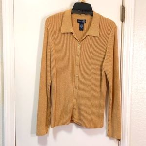 Sparkly Ribbed Knit Cardigan